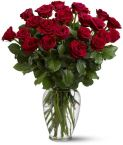 Two Dozen Red Roses in a vase